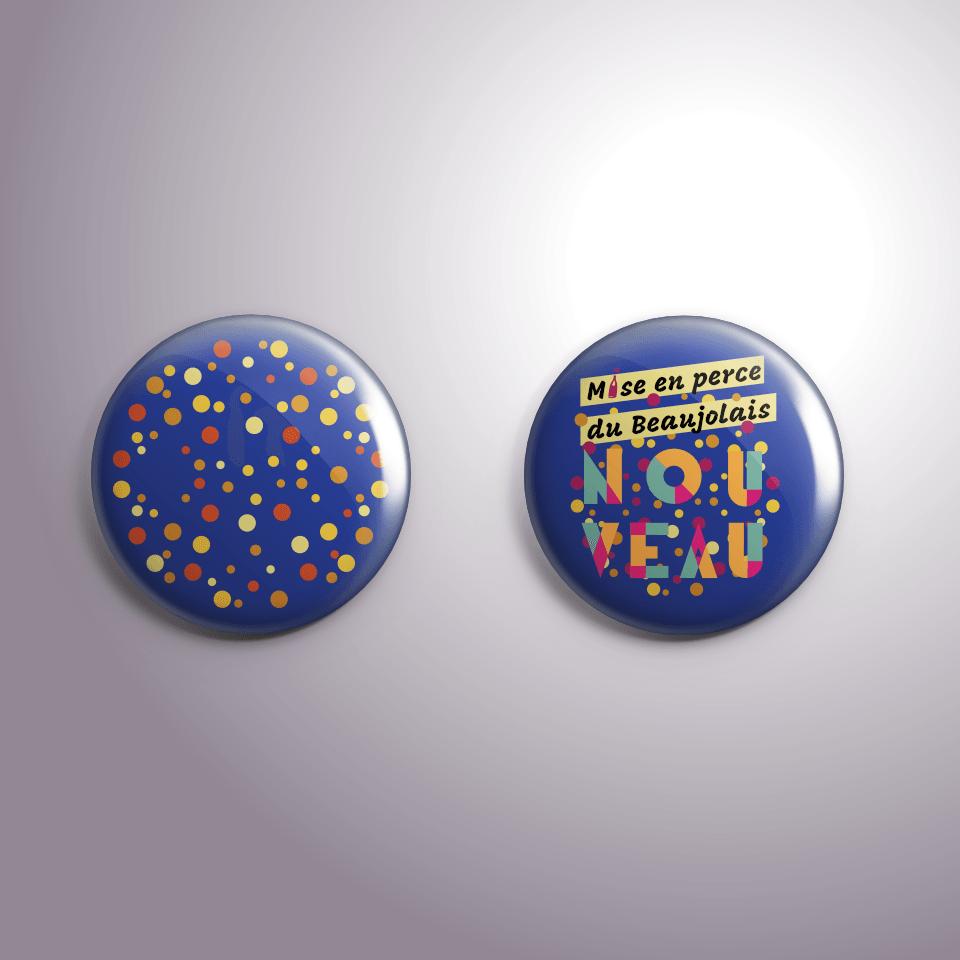 Badges Mise en perce du Beaujolais Nouveau