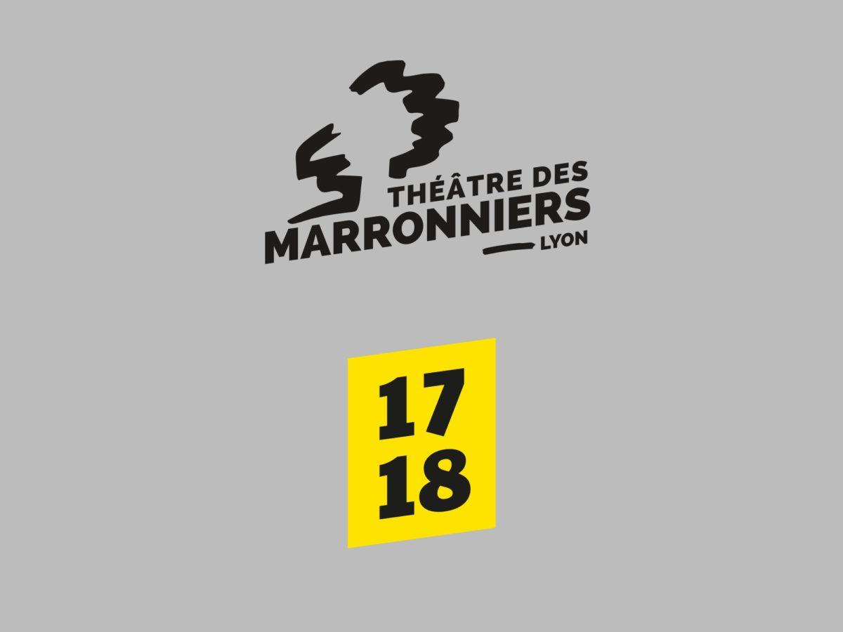 Identité visuelle programme théâtre des Marronniers saison 2017 2018