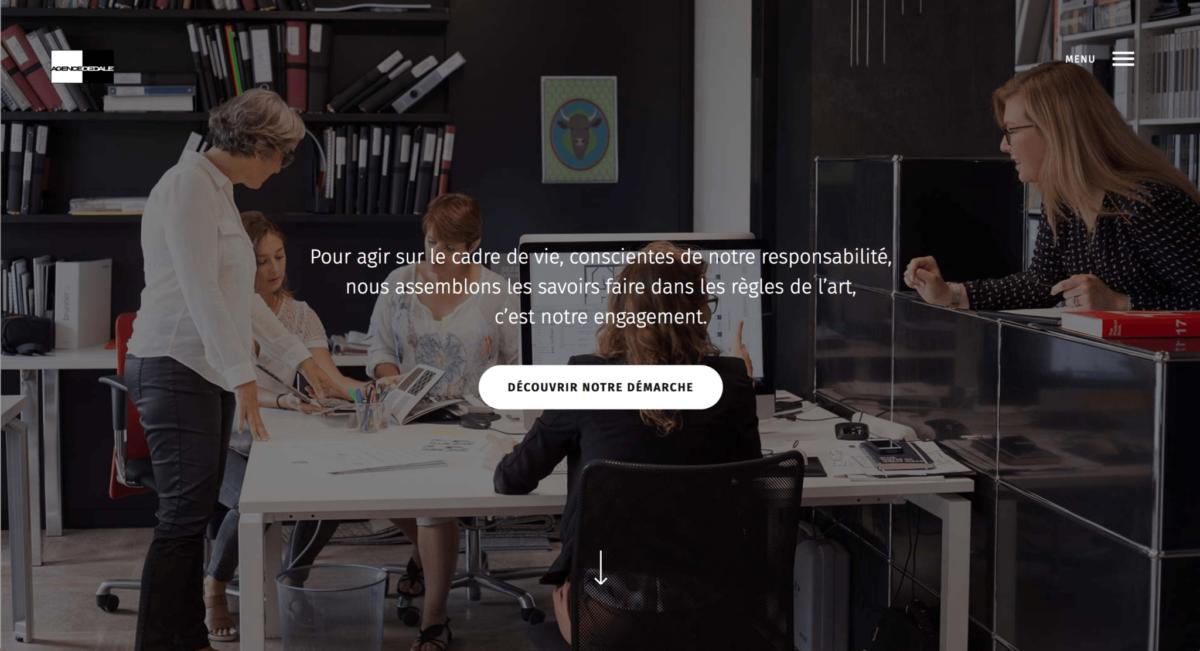 Capture d'écran site web agence Dédale 3