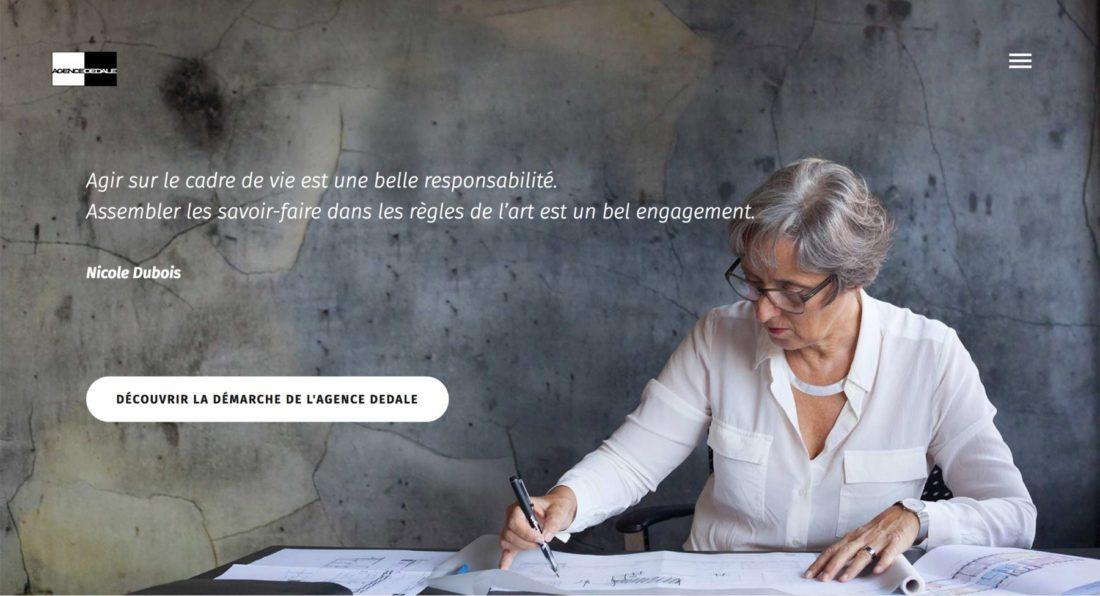 Capture d'écran site web agence
