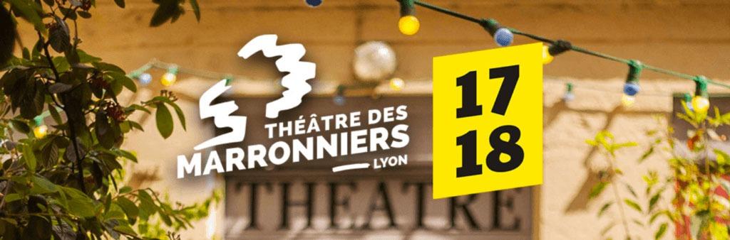 Couverture de saison 17-18 du Théâtre des Marronniers